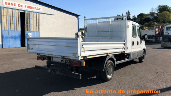 IVECO Daily 35C14D double cabine benne alu + coffre